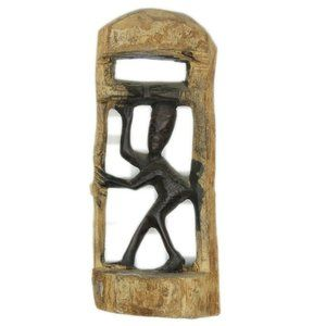 South Africa Wooden Sculpture Tribal Hand Carved